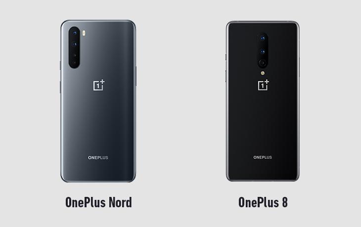 OnePlus Nord und OnePlus 8 Rückseite