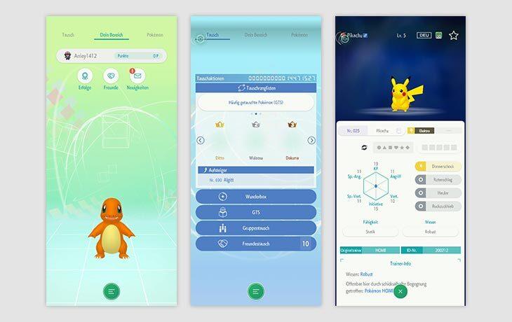 Pokémon App Pokémon HOME