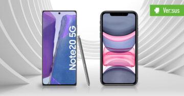 Samsung Galaxy Note 20 5G vs. Apple iPhone 11 – Der Vergleich der Branchen-Riesen