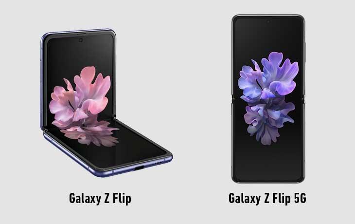 Samsung Galaxy Z Flip vs. Samsung Galaxy Z Flip 5G Vorderseite