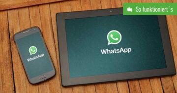 WhatsApp Web auf dem Tablet installieren – So funktioniert's