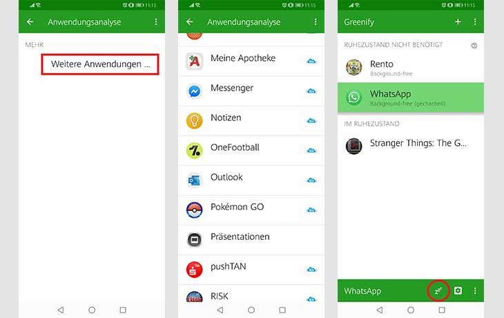 Anleitung Greenify Screenshots