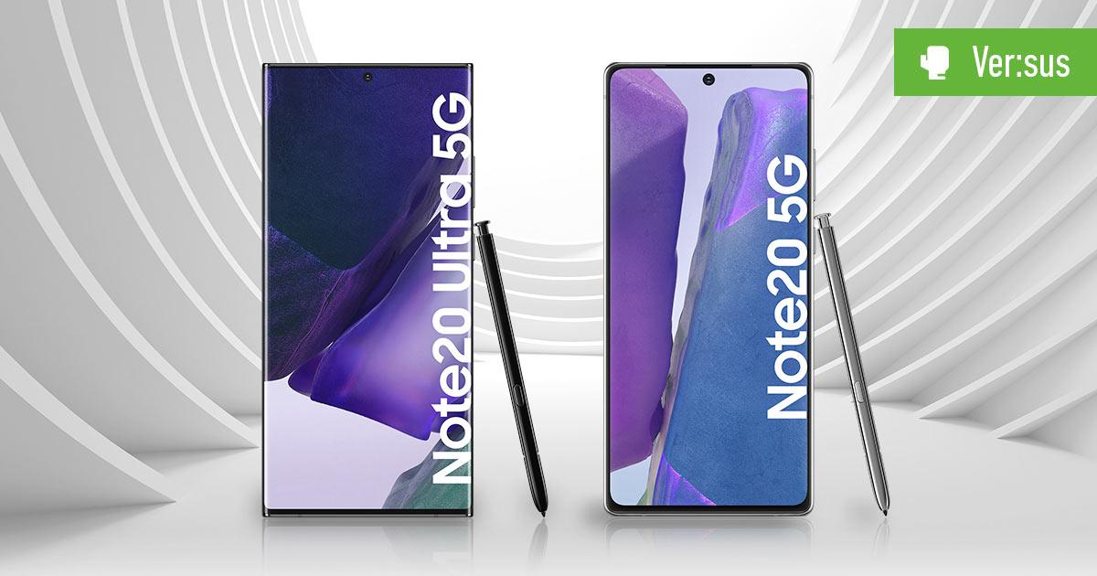 Galaxy Note 20 vs Galaxy Note 20 Ultra 5G