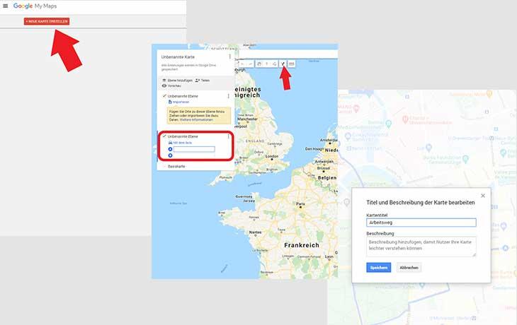 Google Maps Route erstellen Anleitung