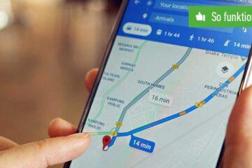 Google Maps Route speichern