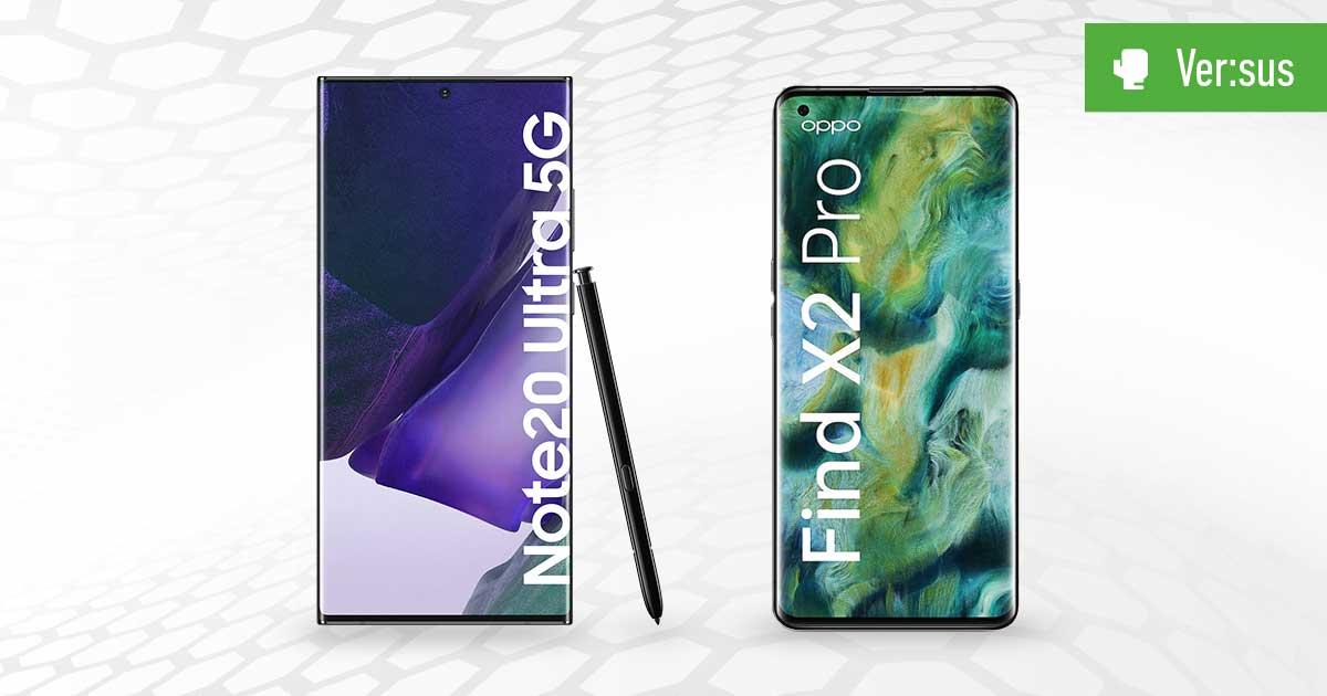 Header Note 20 Ultra vs Find X2 Pro