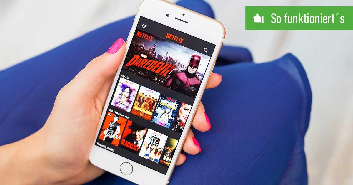 Header Netflix-Profil löschen