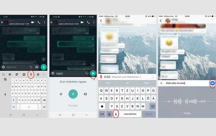 WhatsApp Text diktieren