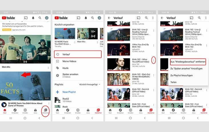 YouTube Wiedergabeliste löschen