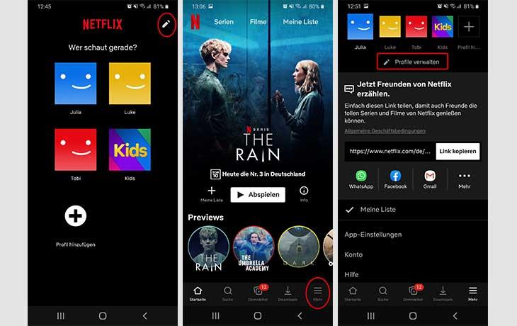 Netflix-Profil löschen 1