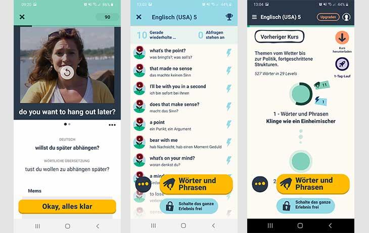 Englisch-Lern-App Memrise