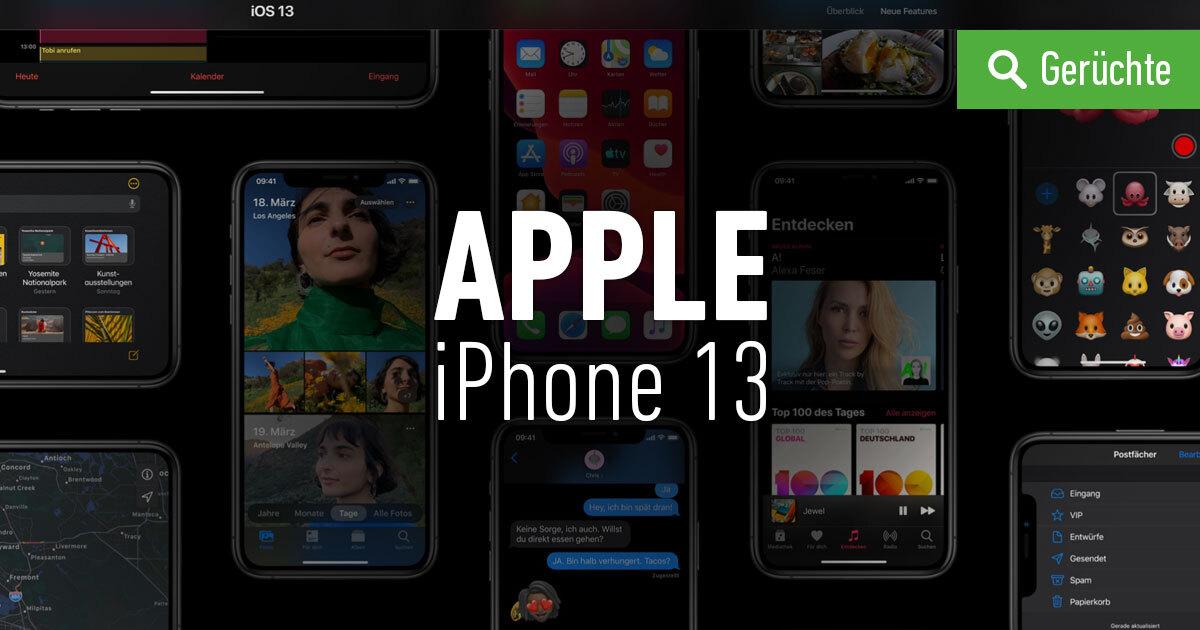 iPhone 13 Gerüchte, Infos und Leaks