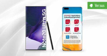 Samsung Galaxy Note 20 Ultra 5G vs. HUAWEI P40 Pro – Vergleich der High-End-Flaggschiffe