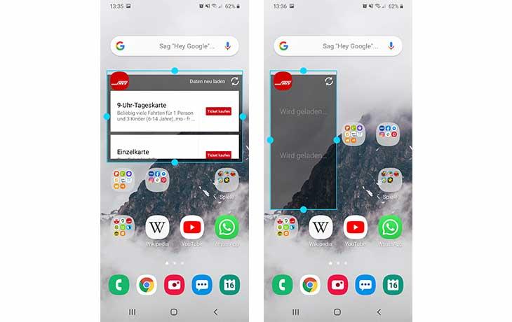 Android Widgets hinzufügen 2