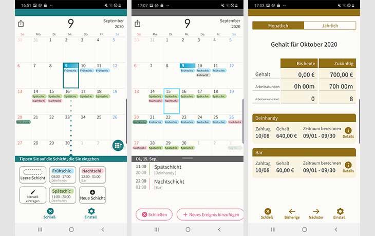 Dienstplan-App SHIFTAR