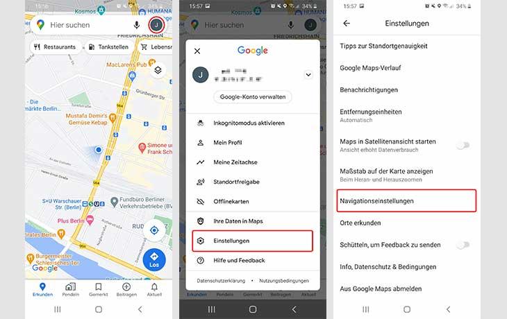 Google Maps Sprache ändern 1