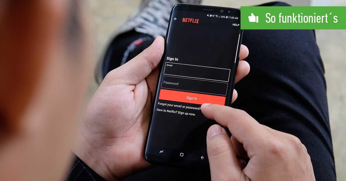 Header Netflix Passwort ändern