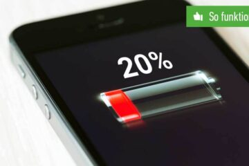 iPhone-Batterie in Prozent