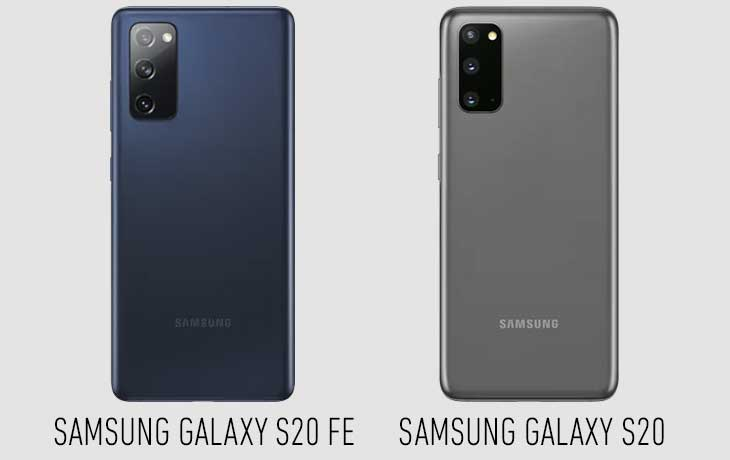 Samsung Galaxy S20 FE vs. Galaxy S20 Vergleich Design