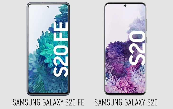 Samsung Galaxy S20 FE vs. Galaxy S20 Vergleich Display