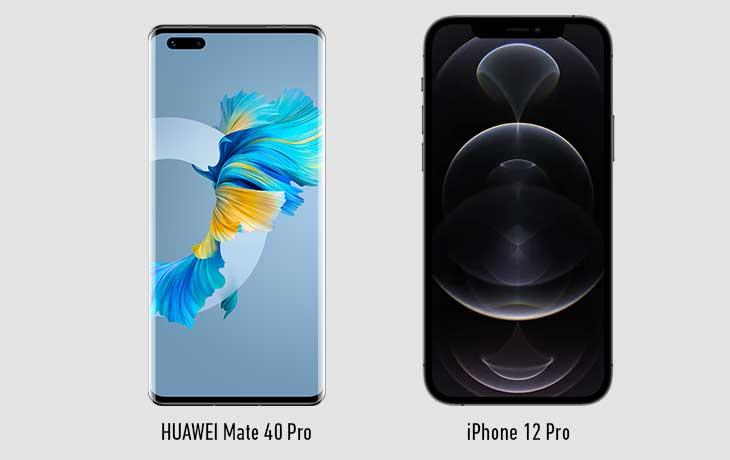 HUAWEI Mate 40 Pro vs. iPhone 12 Pro