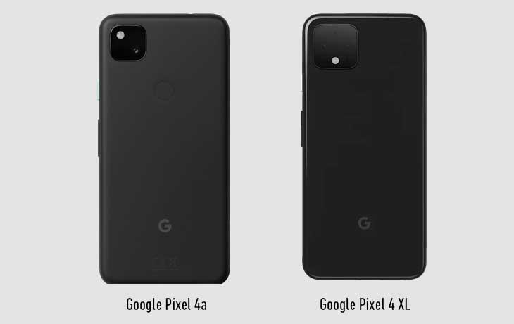 Hinten Pixel 4a vs Pixel 4 XL