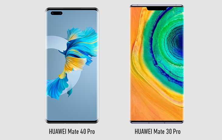 Huawei Mate 40 Pro vs. Mate 30 Pro: Front