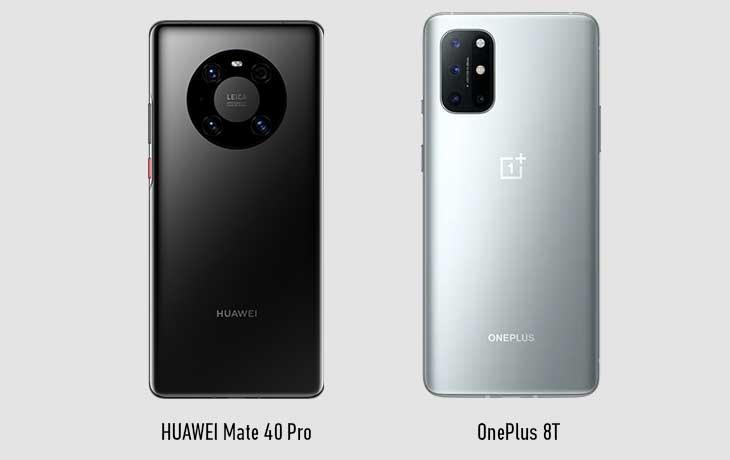 Mate 40 Pro vs OnePlus 8T Hinten