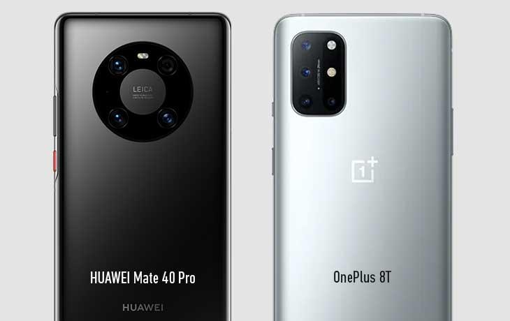 Mate 40 Pro vs OnePlus 8T Kamera
