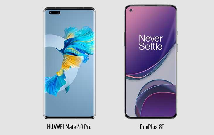 Mate 40 Pro vs OnePlus 8T Vorne