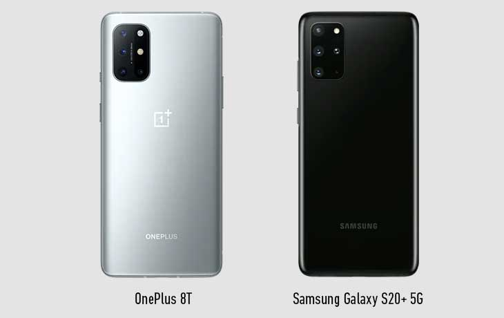 OnePlus 8T vs S20 Plus Hinten