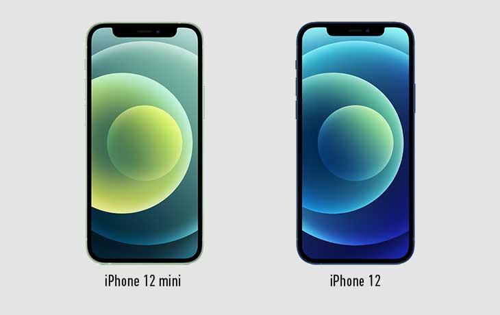 iPhone 12 mini und iPhone 12 Front