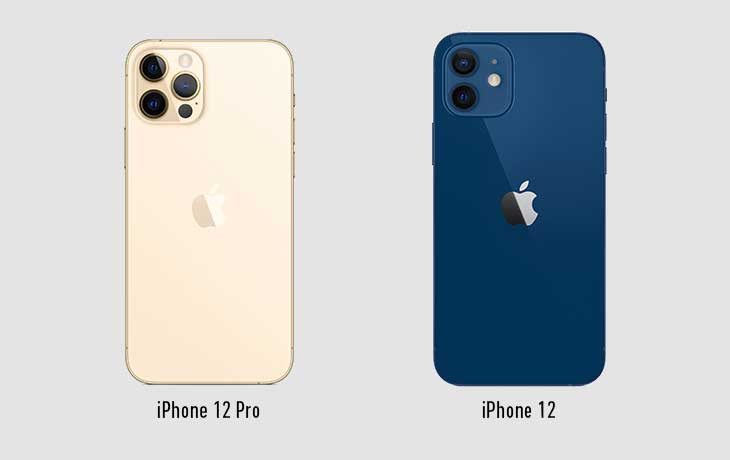 iPhone 12 und iPhone 12 Pro Rückseite