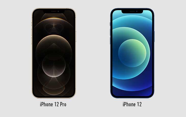 iPhone 12 und iPhone 12 Pro Vorderseite