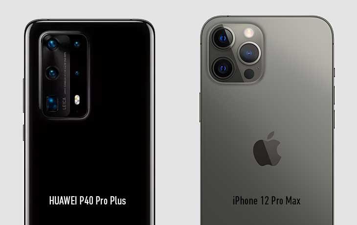 iPhone 12 Pro Max vs. HUAWEI P40 Pro Plus