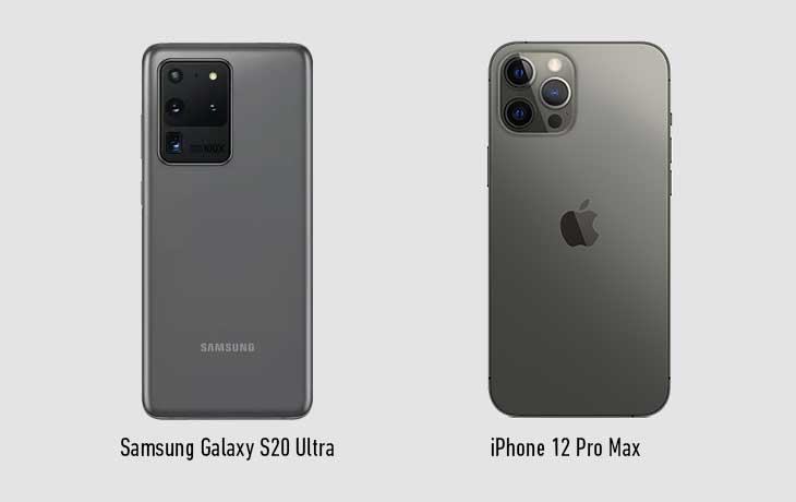 iPhone 12 Pro Max vs. Samsung Galaxy S20 Ultra 5G