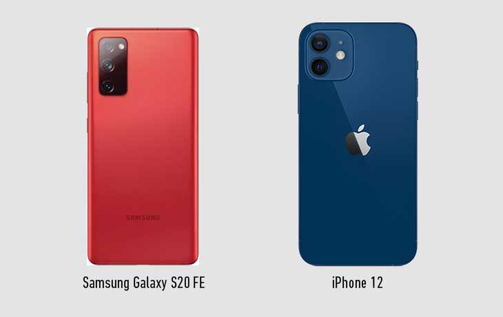 iPhone 12 vs. Galaxy S20 FE: Rückseite