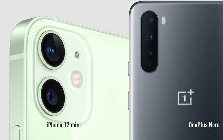iPhone 12 mini vs. OnePlus Nord: Kamera