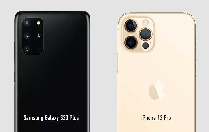 iPhone 12 vs. Samsung Galaxy S20 Plus: Kamera