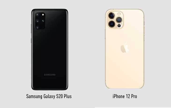 iPhone 12 vs. Samsung Galaxy S20 Plus: Rückseite
