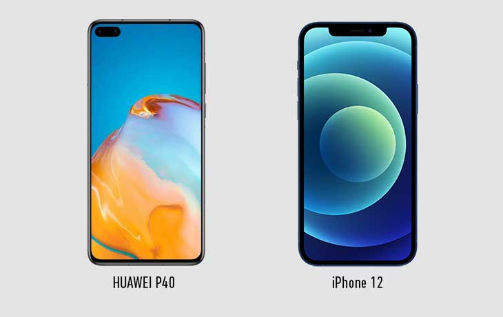 iphone-12-vs-huawei-p40-front