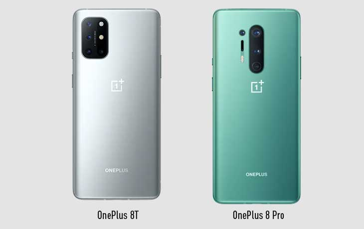 OnePlus 8T vs. OnePlus 8 Pro: Rückseite