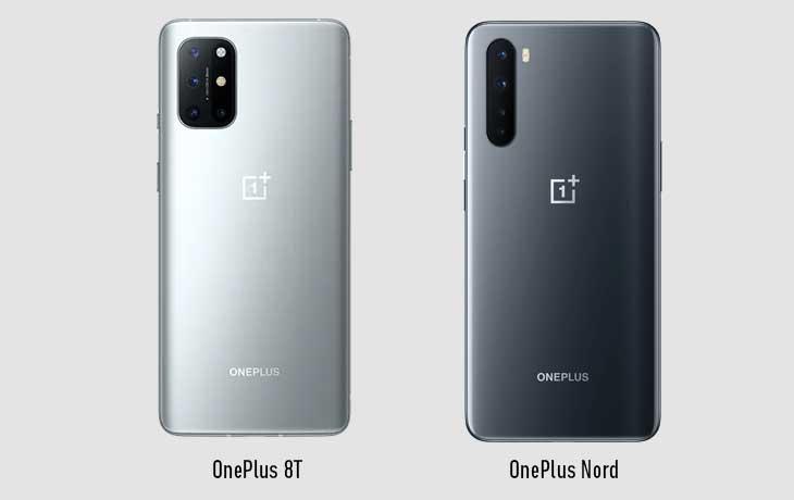 OnePlus 8T vs. OnePlus Nord: Rückseite