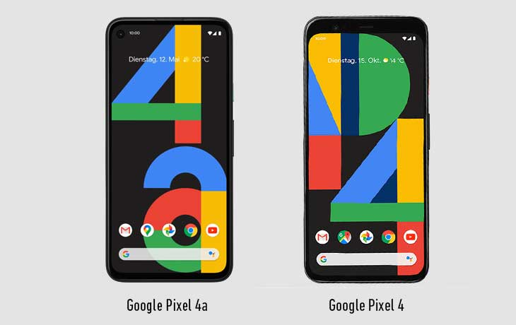 Pixel 4a vs Pixel 4: Front