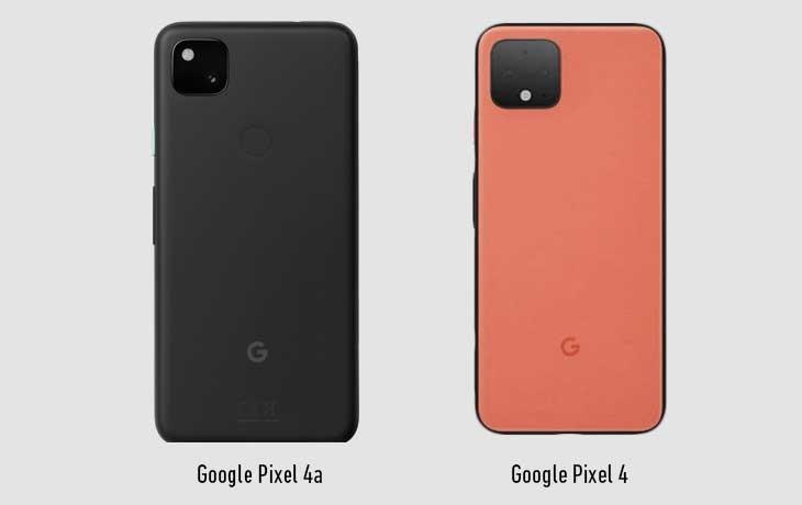 Pixel 4a vs Pixel 4: Rückseite