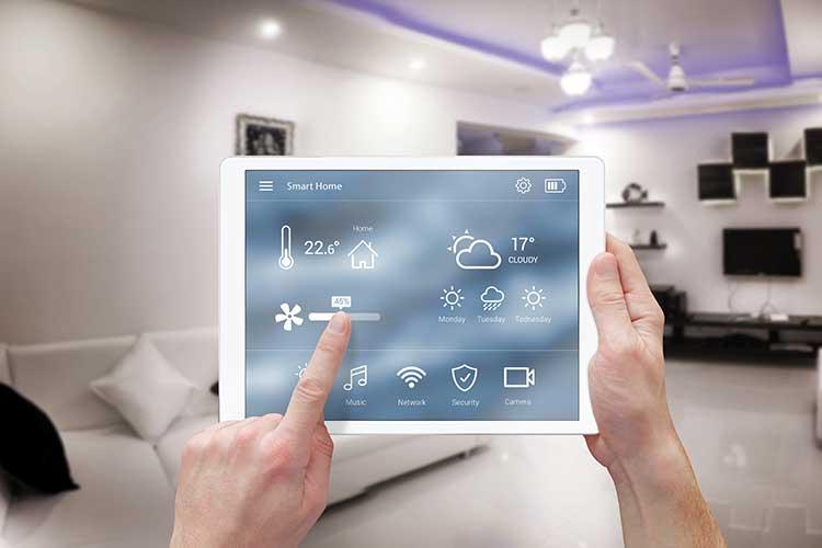 Netatmo: Tablet zeigt Optionen, um die Heizung einzustellen.