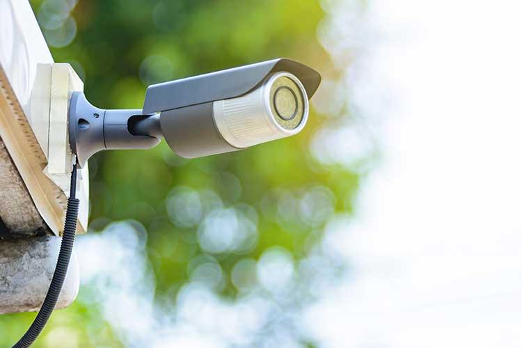 Überwachungskamera für den Außenbereich.