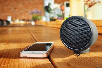 Bluetooth kabellose Übertrag von Smartphone auf Lautsprecher