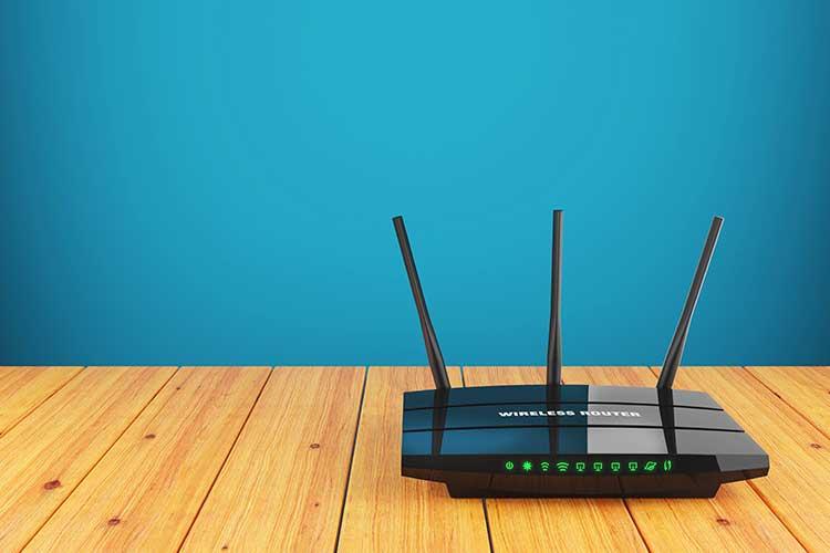 Gateway Router auf einem Tisch