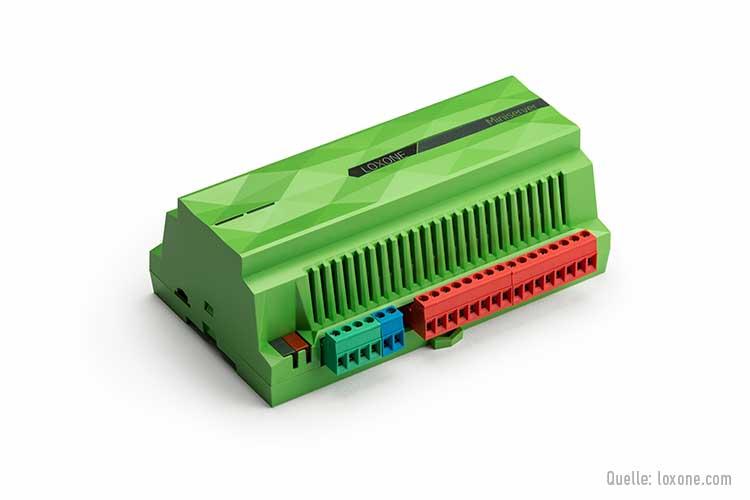 Grüner Miniserver von Loxone
